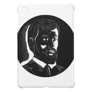 Hernando de Soto Explorer Circle Woodcut iPad Mini Covers