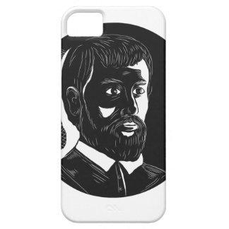Hernando de Soto Explorer Circle Woodcut iPhone SE/5/5s Case