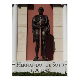 Hernando DeSoto Statue Postcard