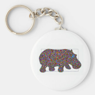Hernando Stained Glass Hippo Key Chain