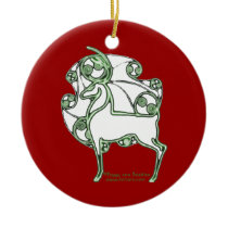 Herne Celtic Christmas Deer Ornament