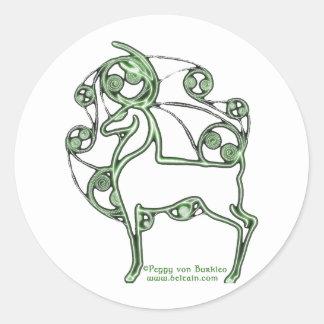 Herne Celtic Deer Stickers, White