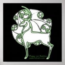 Herne Deer Celtic Art Prints