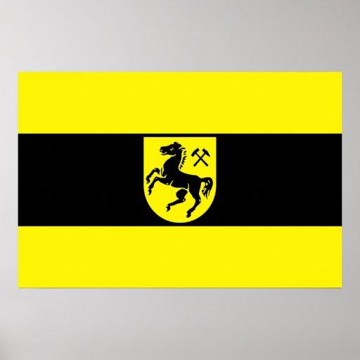 Herne, Germany flag Poster