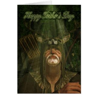 Herne la tarjeta del día de padre del cazador