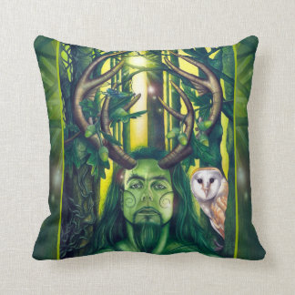 Herne the Hunter Throw Pillows