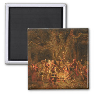 Herne's Oak from 'The Merry Wives of Windsor' by W 2 Inch Square Magnet