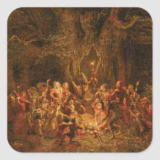 Herne's Oak from 'The Merry Wives of Windsor' by W Square Sticker