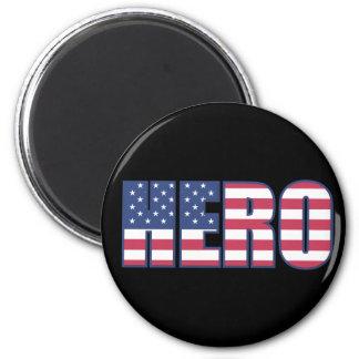 Hero American Flag Stars Stripes Red White Blue Magnet
