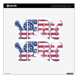 Hero American Flag Stars Stripes Red White Blue PS3 Controller Decals