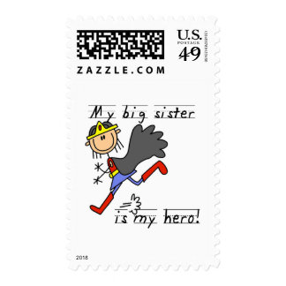 Hero Big Sister Tshirts and Gifts Stamps