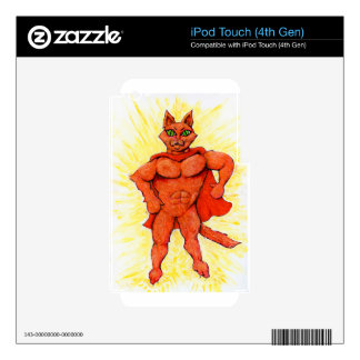 Hero Cat iPod Touch 4G Skins