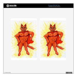 Hero Cat Kindle Fire Decals