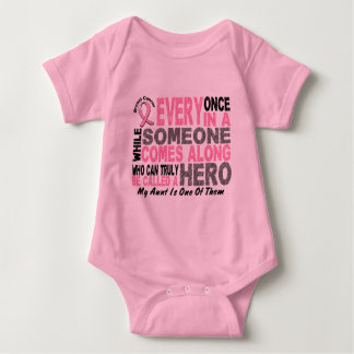 HERO COMES ALONG 1 Aunt BREAST CANCER T-Shirts