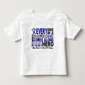 HERO COMES ALONG 1 Aunt COLON CANCER T-Shirts