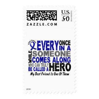 HERO COMES ALONG 1 Best Friend COLON CANCER Tees Postage