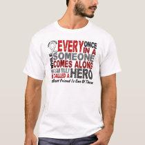 Hero Comes Along 1 Best Friend Lung Cancer T-Shirt