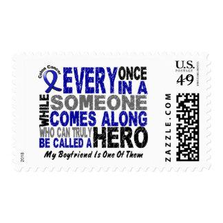 HERO COMES ALONG 1 Boyfriend COLON CANCER T-Shirts Postage