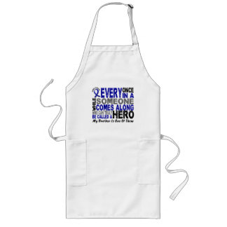 HERO COMES ALONG 1 Brother COLON CANCER T-Shirts Long Apron