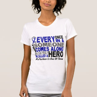 HERO COMES ALONG 1 Brother COLON CANCER T-Shirts