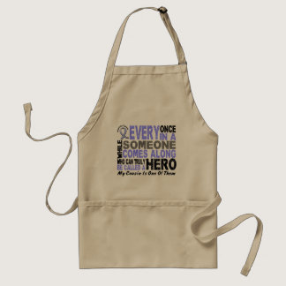 HERO COMES ALONG 1 Cousin PROSTATE CANCER Adult Apron