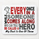 HERO COMES ALONG 1 Dad BRAIN CANCER T-Shirts Mouse Pad