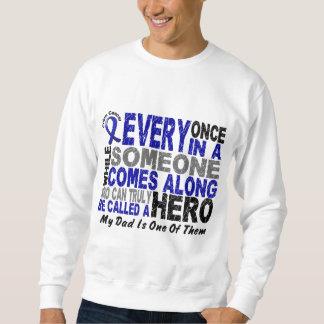HERO COMES ALONG 1 Dad COLON CANCER Sweatshirt