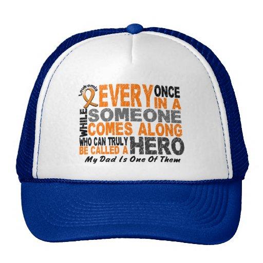 HERO COMES ALONG 1 Dad LEUKEMIA T-Shirts Trucker Hat