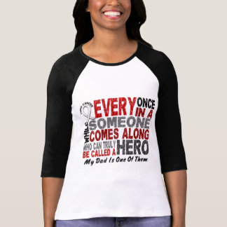 Hero Comes Along 1 Dad Lung Cancer Tshirt