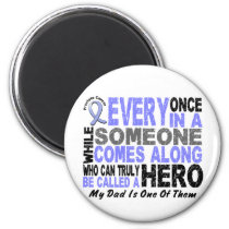 HERO COMES ALONG 1 Dad PROSTATE CANCER Magnet