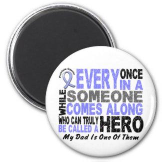 HERO COMES ALONG 1 Dad PROSTATE CANCER Magnet