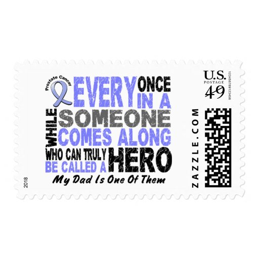 HERO COMES ALONG 1 Dad PROSTATE CANCER Postage