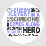 HERO COMES ALONG 1 Dad PROSTATE CANCER Sticker