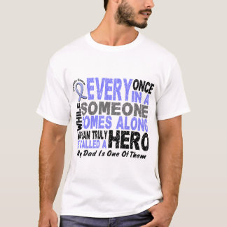 HERO COMES ALONG 1 Dad PROSTATE CANCER T-Shirt