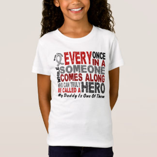 HERO COMES ALONG 1 Daddy BRAIN CANCER T-Shirts