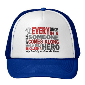 HERO COMES ALONG 1 Daddy BRAIN CANCER T-Shirts Trucker Hats