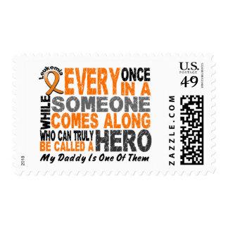 HERO COMES ALONG 1 Daddy LEUKEMIA T-Shirts Postage