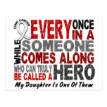 HERO COMES ALONG 1 Daughter LUNG CANCER Postcard
