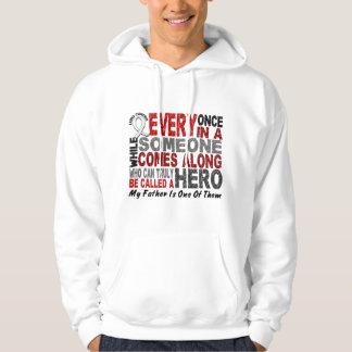 Hero Comes Along 1 Father Lung Cancer Hoodies