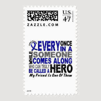 HERO COMES ALONG 1 Friend COLON CANCER T-Shirts Postage