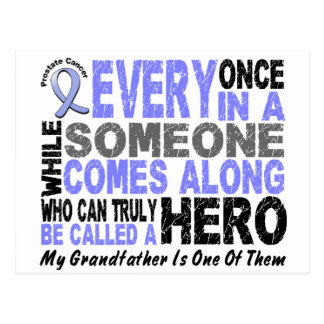 HERO COMES ALONG 1 Grandfather PROSTATE CANCER Postcard