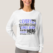 HERO COMES ALONG 1 Grandfather PROSTATE CANCER T-Shirt