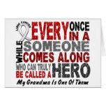 Hero Comes Along 1 Grandma Lung Cancer Card