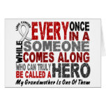 HERO COMES ALONG 1 Grandmother LUNG CANCER Greeting Cards