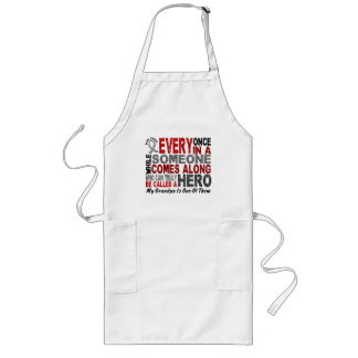 HERO COMES ALONG 1 Grandpa BRAIN CANCER T-Shirts Long Apron