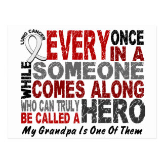 HERO COMES ALONG 1 Grandpa LUNG CANCER Postcard
