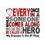HERO COMES ALONG 1 Grandpa LUNG CANCER Postcards