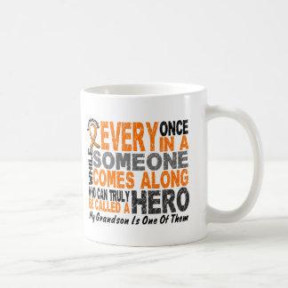 HERO COMES ALONG 1 Grandson LEUKEMIA T-Shirts Coffee Mug
