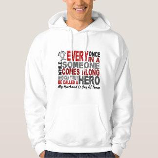 HERO COMES ALONG 1 Husband BRAIN CANCER T-Shirts