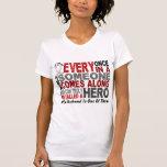 Hero Comes Along 1 Husband Lung Cancer T Shirts